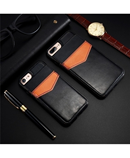 KISSCASE Black Vertical Flip Card Holder Leather Case